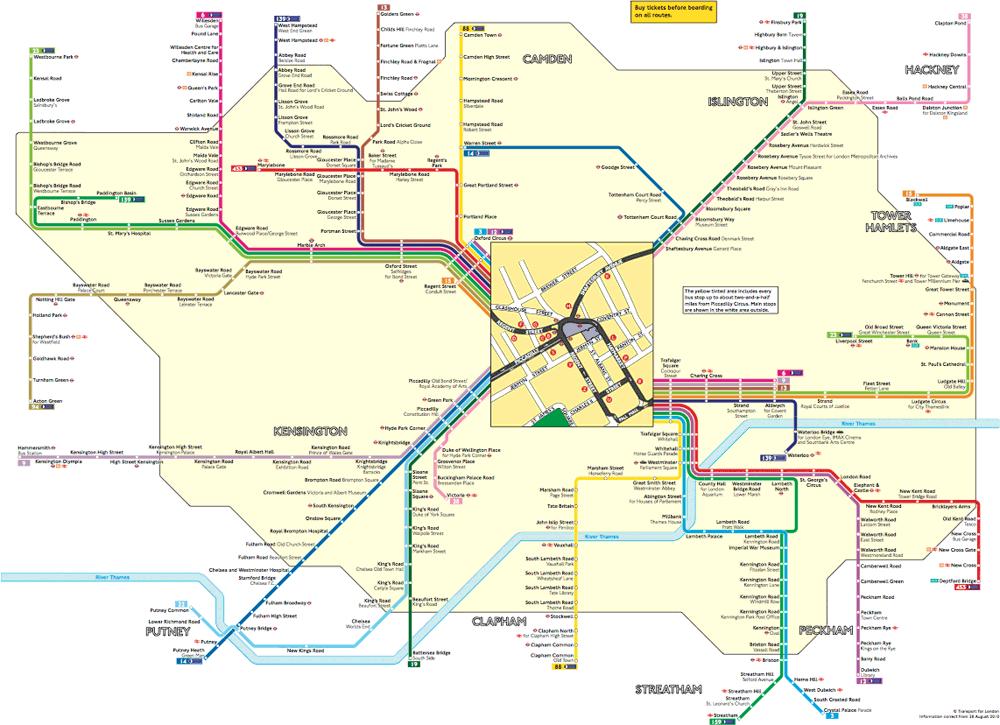 Полная схема маршрутов