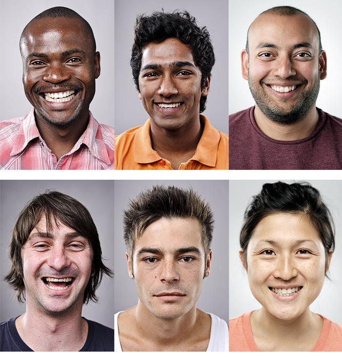 словно как фото молодых людей разной национальности переводе