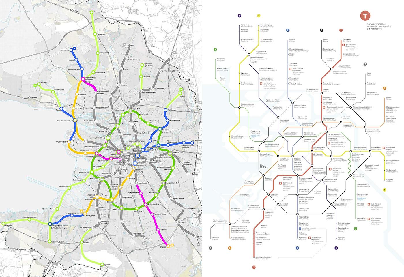 Карта метрополитена СанктПетербурга линии и станции