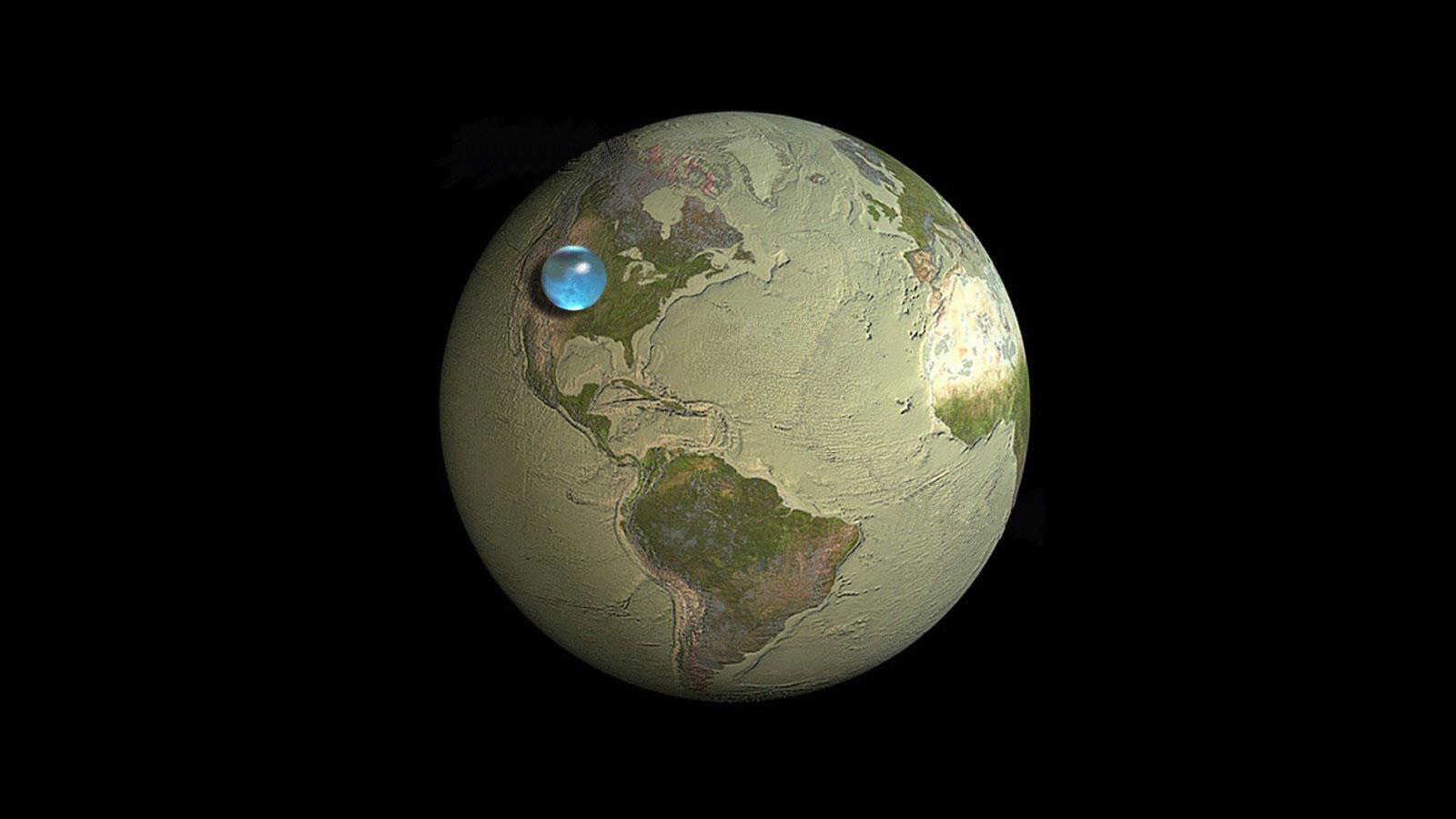 сколько процентов занимают воды суши