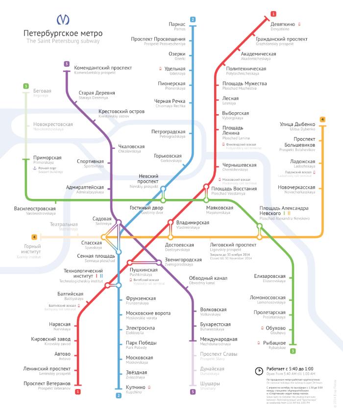 Вот схему питерского метро