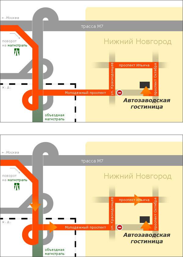 нарисовать схему проезда